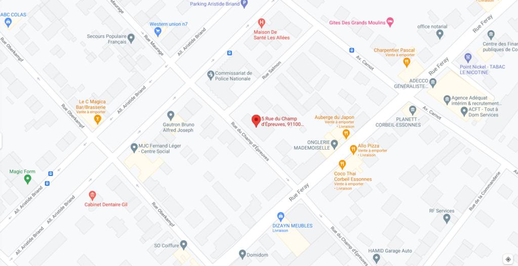 Plan du 5 rue du Champ d'Épreuves à CORBEIL-ESSONNES